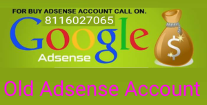 Old Adsense Account for Sell