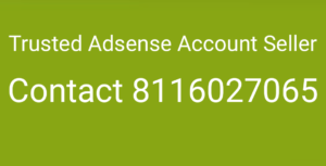 Trusted adsense seller, adsense account seller