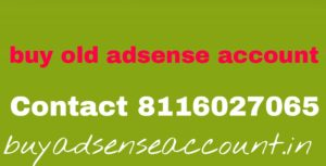 Buy old adsense account