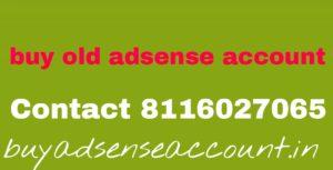 Buy old adsense account