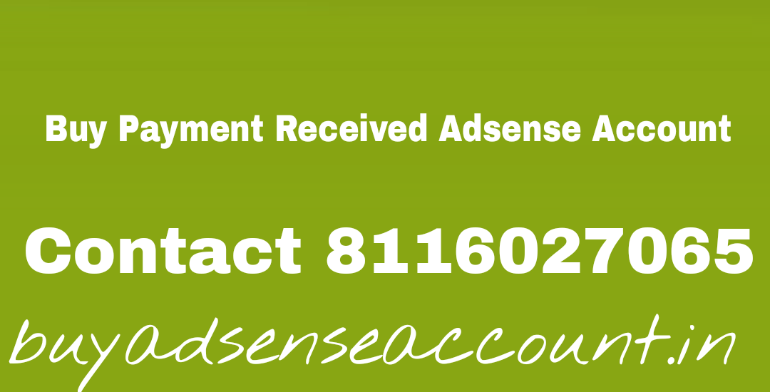 Buy Adsense Account with Website