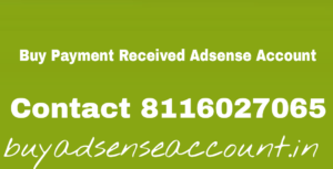Buy payment received adsense account