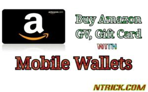 Buy amazon gift voucher with paytm cash, freecharge, mobikwik, oxigen, phonepe wallet