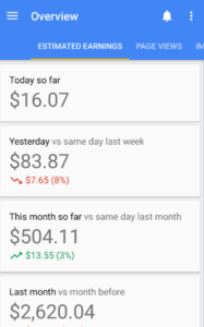 Adsense self click earning proof