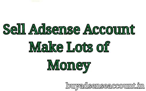 Sell adsense account