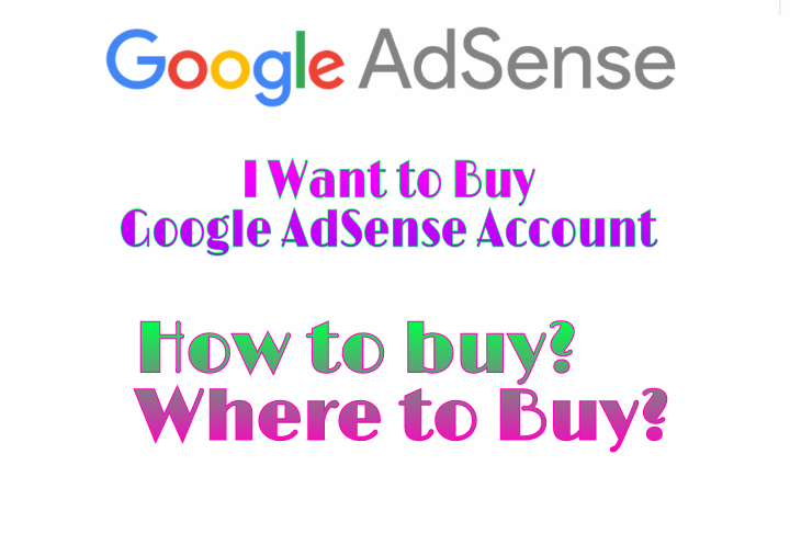 i want to buy google adsense account
