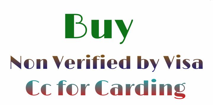 buy non verified by visa cc