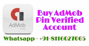 Buy Pin Verified AdMob Account