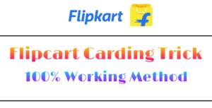 Flipkart Carding Trick Working Method Full Guide