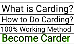 What is carding, how to do carding