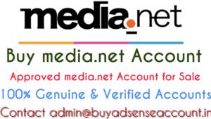 Buy media.net account, media.net account sale