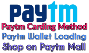 Paytm carding method